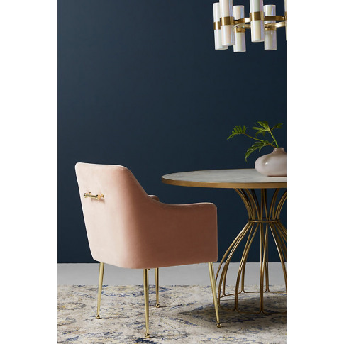 Elowen Dining Chair With Arm Rest