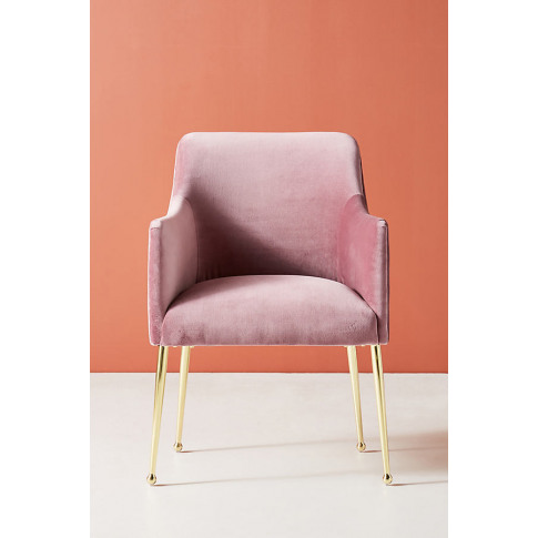 Elowen Dining Chair With Arm Rest - Purple
