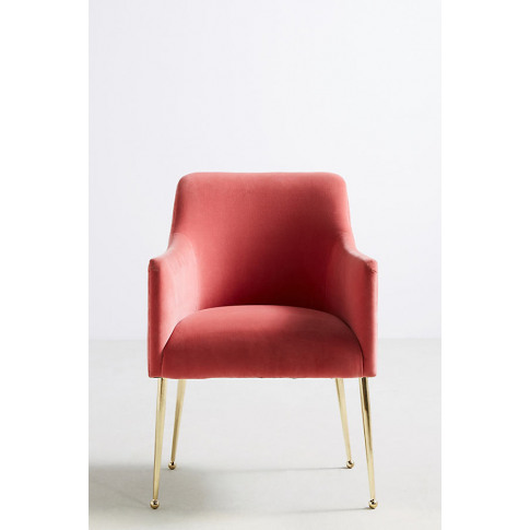 Elowen Dining Chair with Arm Rest - Pink