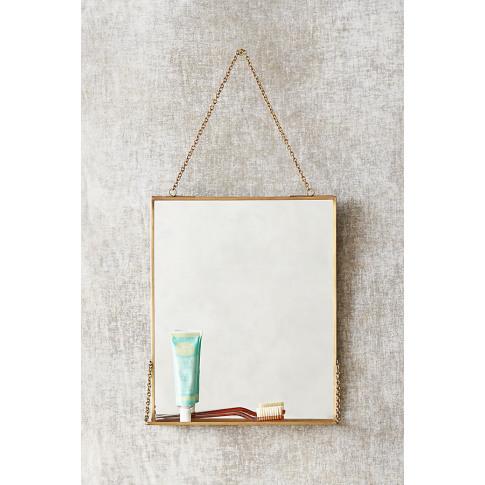 Brass Mirror Shelf - Brown