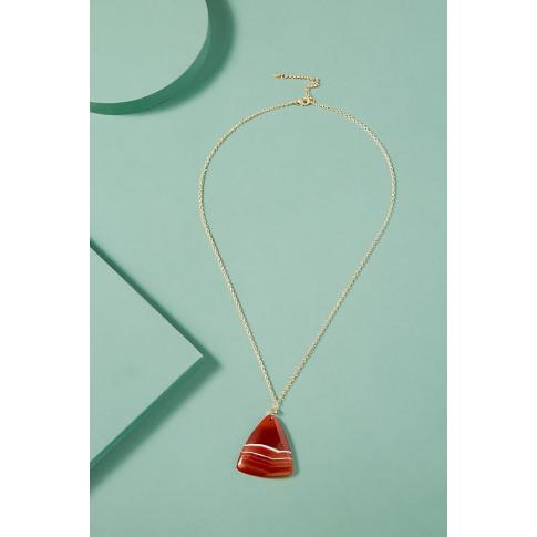 Triangle Stone Pendant - Orange