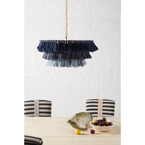 Fela Tasseled Chandelier - Blue