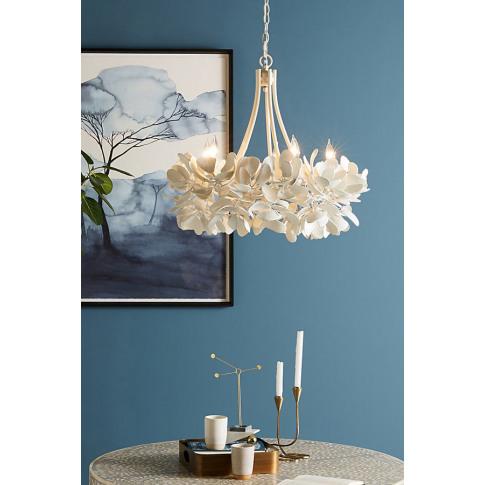 Magnolia Chandelier - White