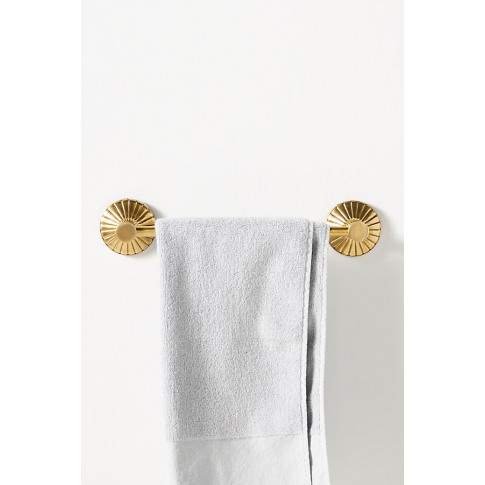 Fluted Towel Rod - Brown, Size L