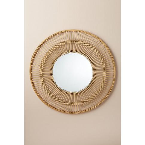 Rattan Frame Mirror - Beige