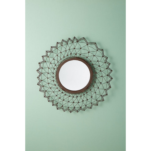 Arna Wall Mirror - Black, Size S