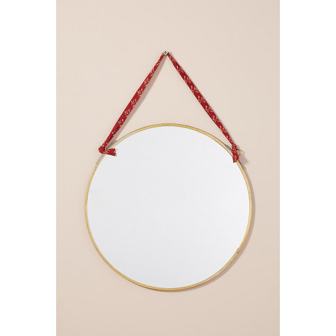 Kiko Round Mirror - Brown, Size L