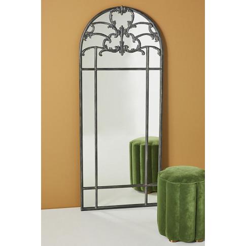 Lucia Mirror - Black, Size L
