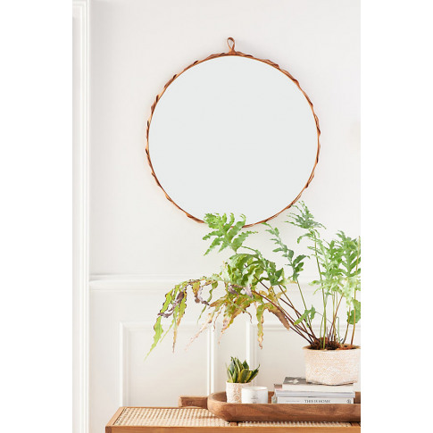 Nayla Leather Mirror
