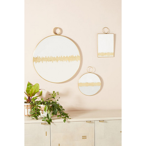 Maiya Mirror - Gold, Size Square