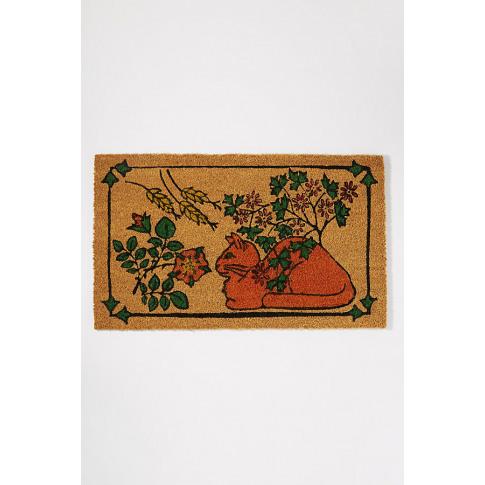 This Is The Cat Doormat - Pink
