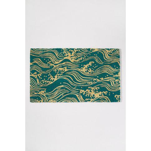 V & A Waves Doormat - Blue