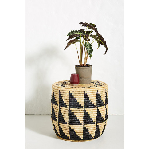 Silas Woven Side Table - Black