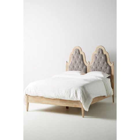 Genevieve Bed - Grey, Size Eu King