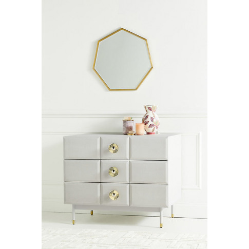 Huxley Three-Drawer Dresser - Grey, Size S