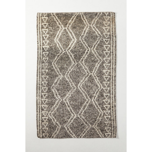 Hand-Knotted Amal Rug - Grey, Size 2 X 3