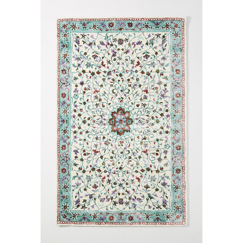 Tufted Zahleh Rug - Mint, Size 5x8