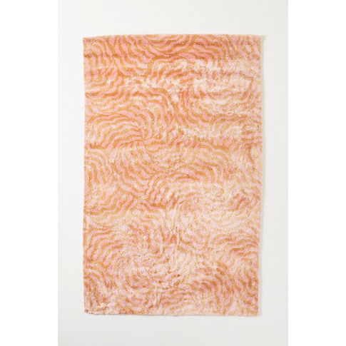 Tufted Lauren Viscose Rug - Orange, Size 5x8