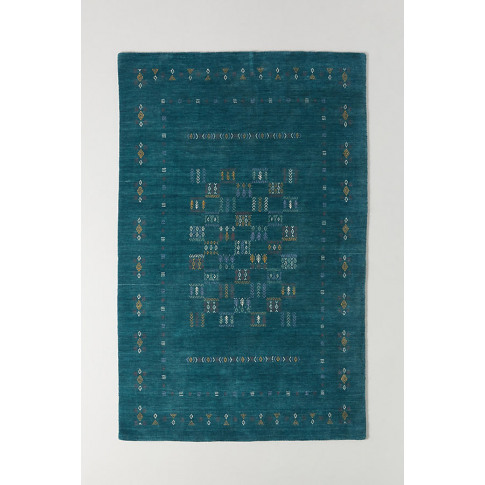 Hand-Knotted Catrine Rug - Blue, Size 9x12
