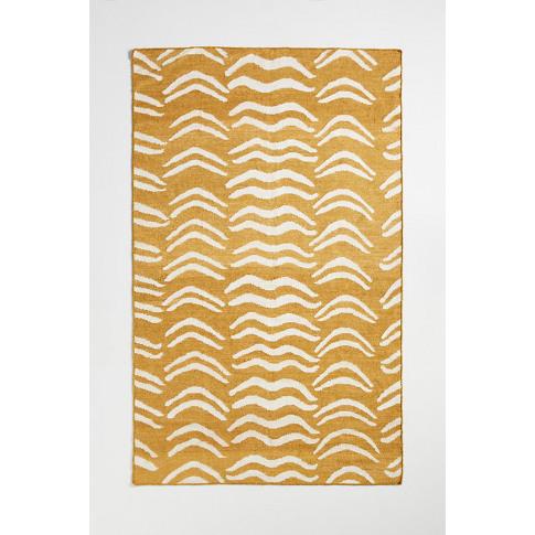 Flatwoven Nashua Rug - Yellow, Size 3 X 5
