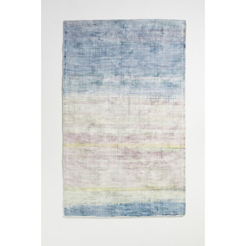 Tufted Bryn Viscose Rug - Blue, Size 8 X 10