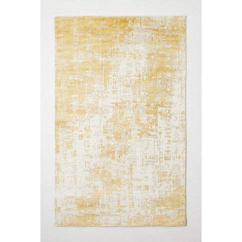 Avida Viscose Rug - Yellow, Size 8 X 10