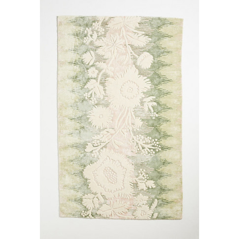 Hand-Tufted Erica Rug - Green, Size 5x8