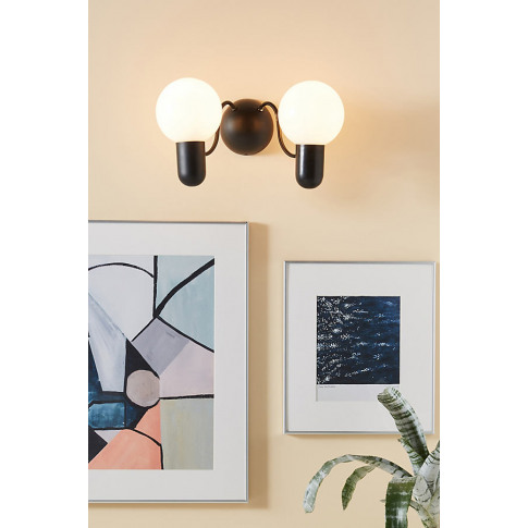 Lucia Wall Light - Black, Size S