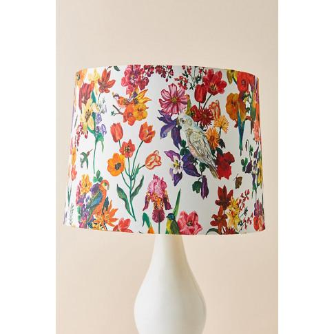 Nathalie Lete Floral Lamp Shade - Beige, Size L