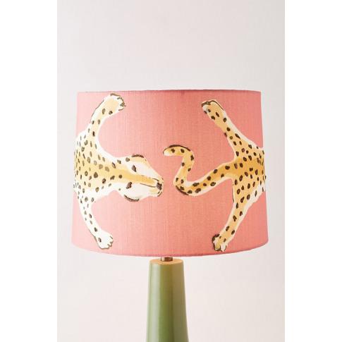 Dana Gibson Leopard Lamp Shade - Orange, Size L