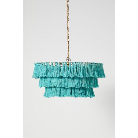 Fela Tasselled Chandelier - Blue