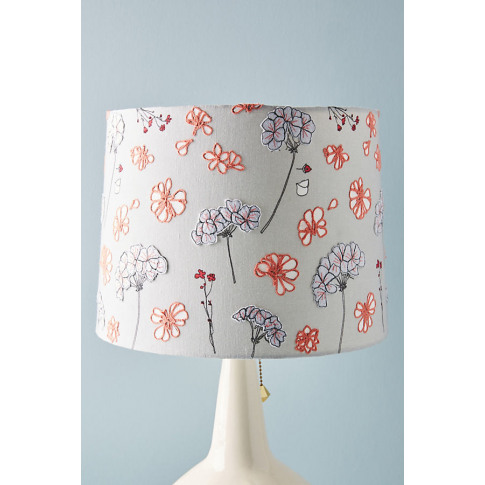 Embellished Delilah Lamp Shade - Grey, Size M