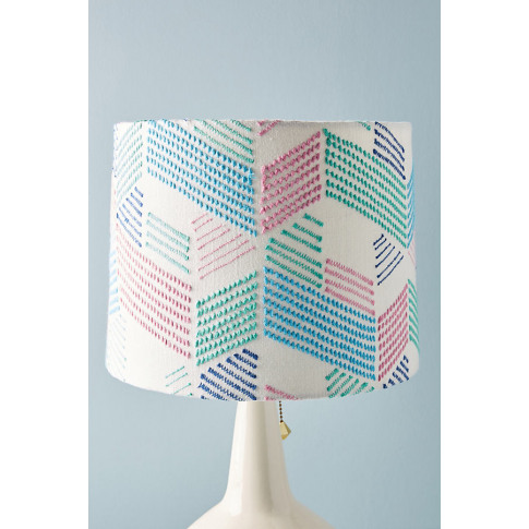 Embellished Maze Lamp Shade - Mint, Size M