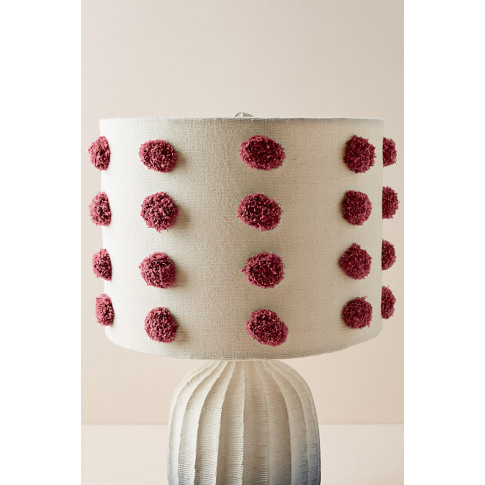 Tufted Bungalow Lamp Shade - Red, Size M