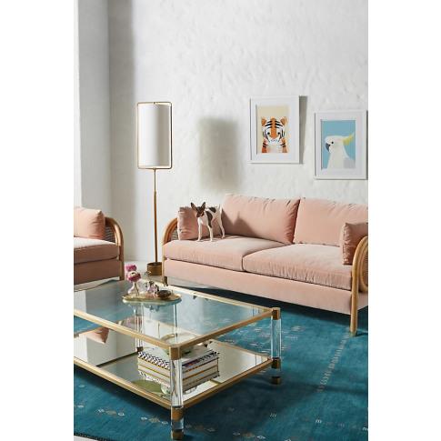 "Heatherfield Two-Cushion Sofa - White, Size 76"""