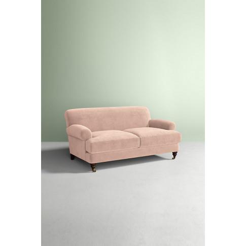 Velvet Willoughby Sofa, Wilcox Legs - White