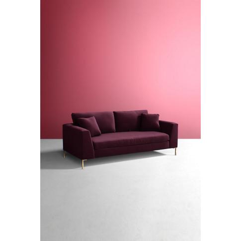 Velvet Edlyn Sofa - Purple