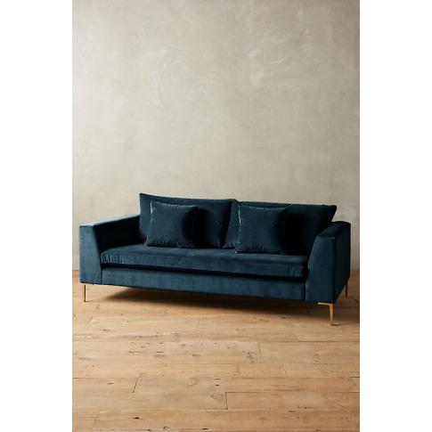 Velvet Edlyn Sofa - Blue