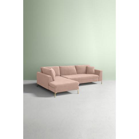 Velvet Edlyn Left Corner Sofa - White