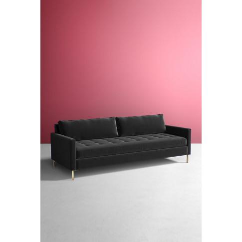 Angelina Velvet Sofa - Grey