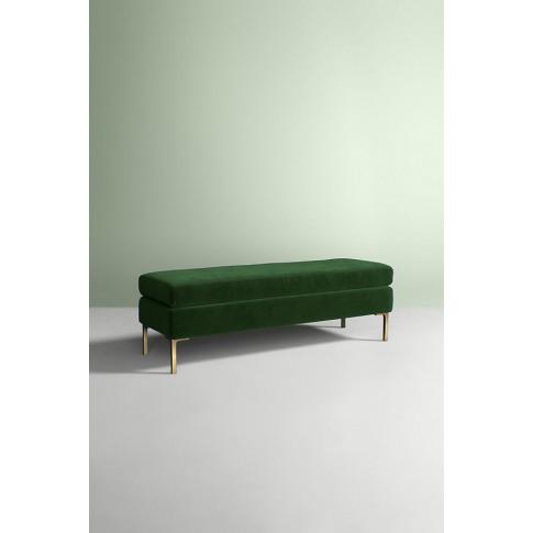 Edlyn Velvet Bench - Green