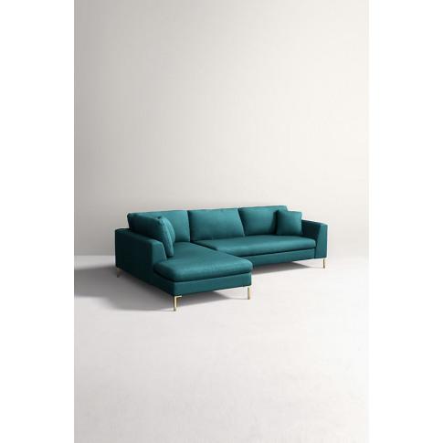 Edlyn Left Corner Sofa, Performance Wool - Blue