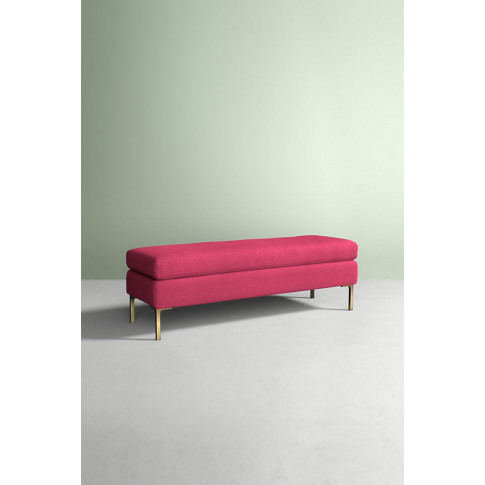 Edlyn Bench, Performance Wool - Pink