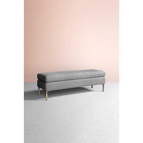 Edlyn Bench, Wool - Grey