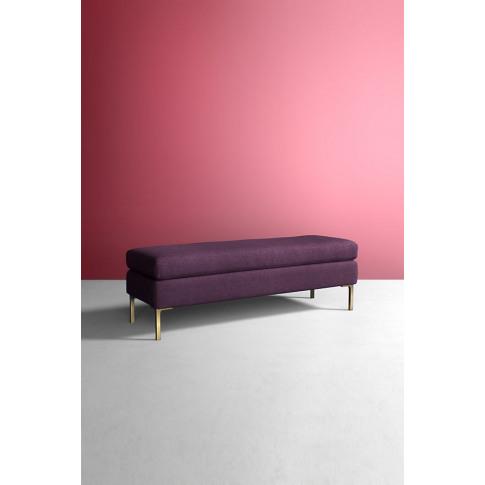 Edlyn Bench, Wool - Purple