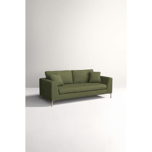 Edlyn Sofa, Performance Linen - Green