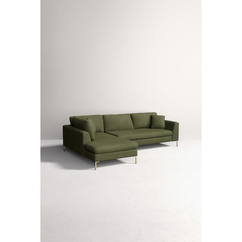 Edlyn Left Corner Sofa, Performance Linen - Green