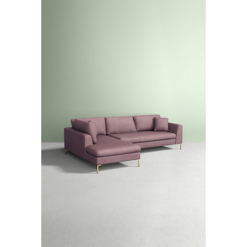 Edlyn Left Corner Sofa, Performance Linen - Purple