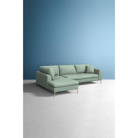 Edlyn Left Corner Sofa, Performance Linen - Mint