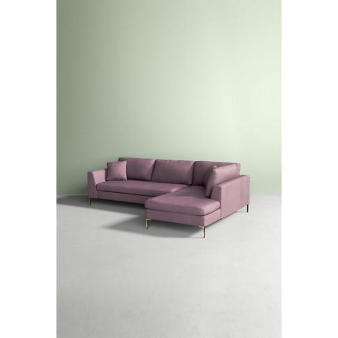 Edlyn Right Corner Sofa, Performance Linen - Purple
